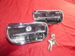 Alfa Romeo Bertone GT door handle outside left and right NEW + 105025549200 105025549100