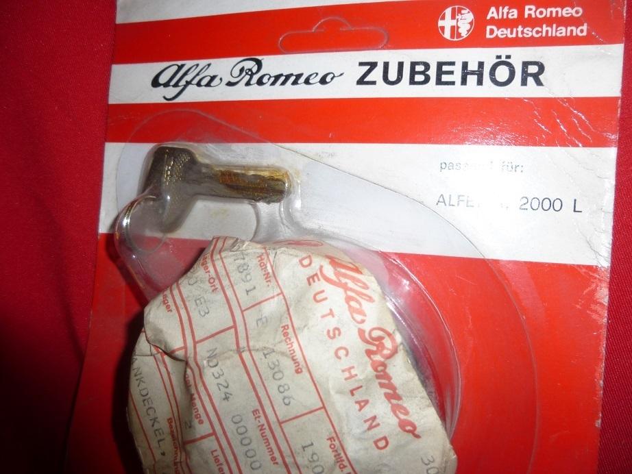 buy online 4046c 14efa Original Alfa Romeo Alfetta + type 105 tank lock lockable chrome NEW