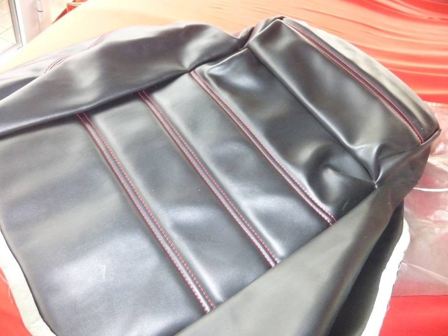 Original Alfa Romeo Spider Seat Cover Lower Part Black With - Alfa romeo seat covers