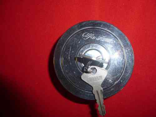 Original Alfa Romeo 105 type tank lock lockable chrome NEW