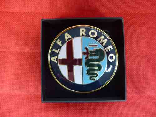 Alfa Romeo 155 / 164 / 75 / 145 / 146 / Spider Gtv 916 / 166 / 156 front badge 75 mm 60596492 NEW