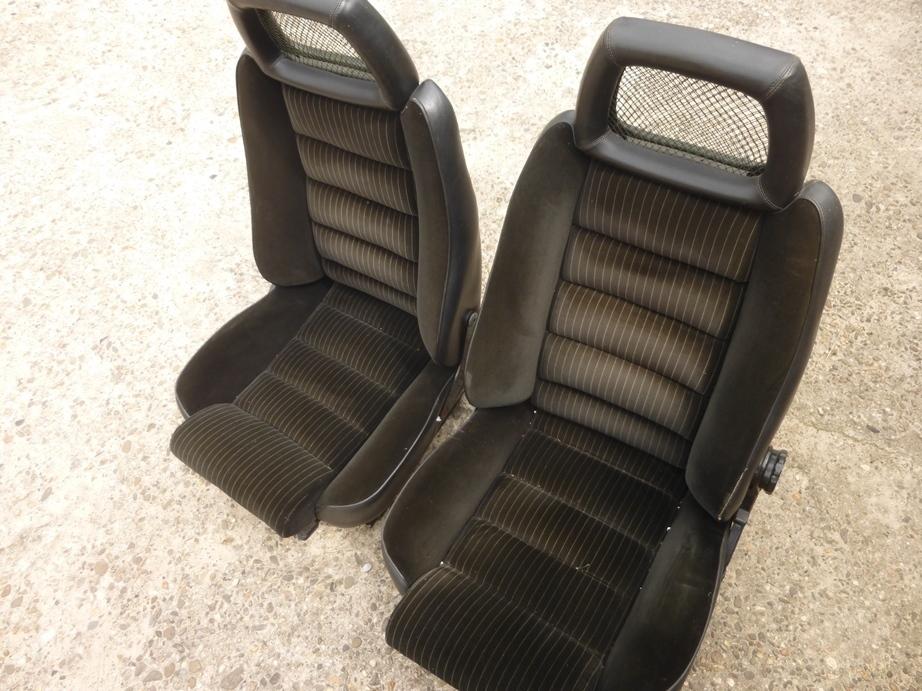 original alfa romeo alfetta gtv 6 seats driver seat passenger seat velor black top condition. Black Bedroom Furniture Sets. Home Design Ideas